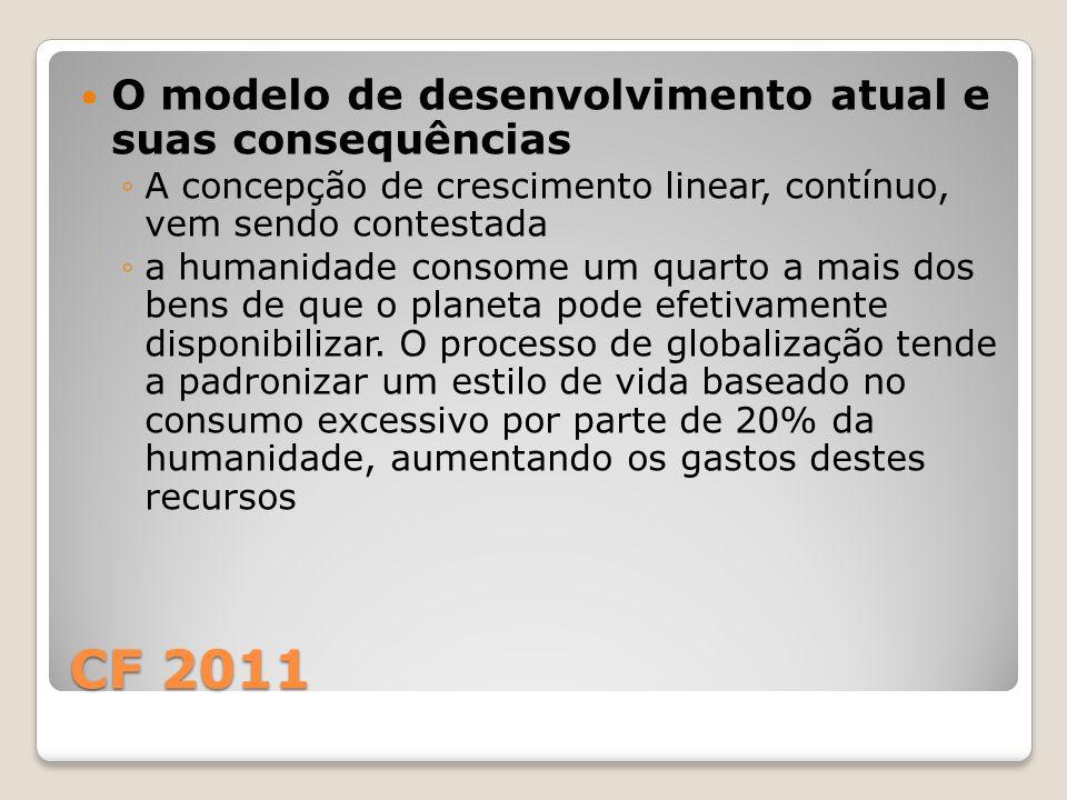CF 2011 O modelo de desenvolvimento atual e suas consequências