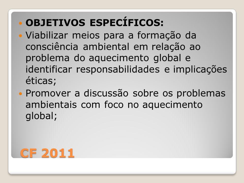 CF 2011 OBJETIVOS ESPECÍFICOS: