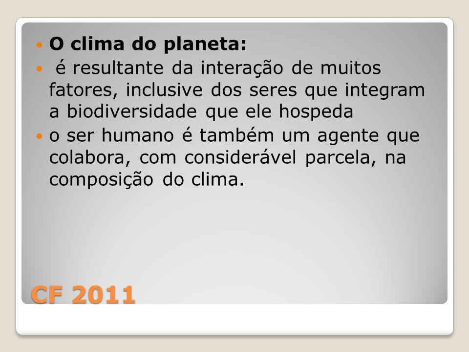 O clima do planeta: é resultante da interação de muitos fatores, inclusive dos seres que integram a biodiversidade que ele hospeda.