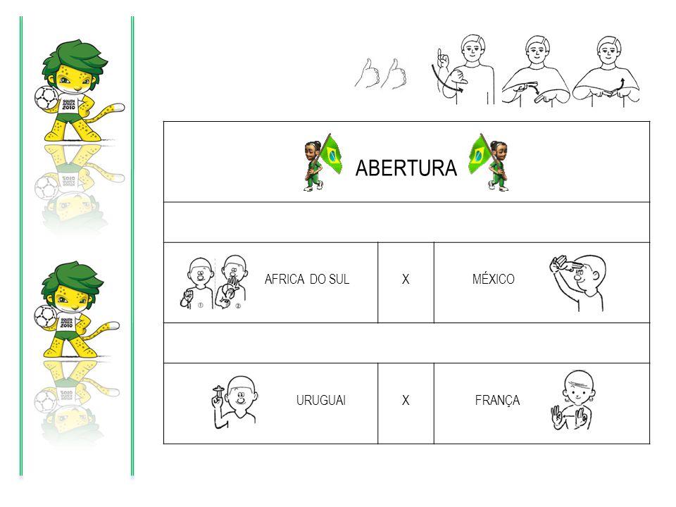 ABERTURA AFRICA DO SUL X MÉXICO URUGUAI FRANÇA