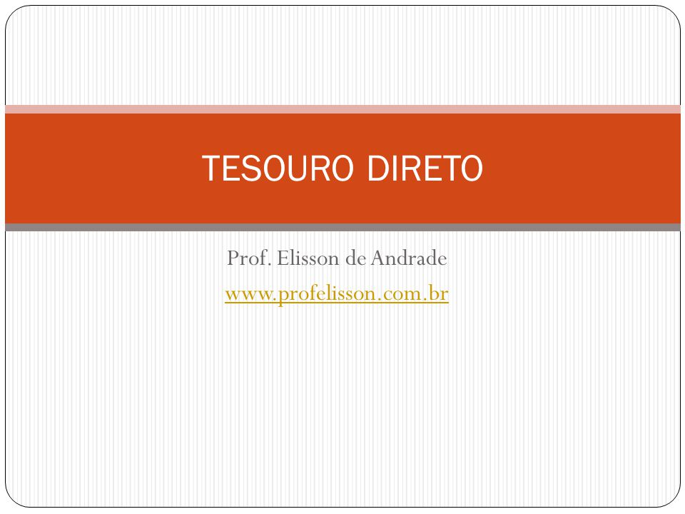 Prof. Elisson de Andrade www.profelisson.com.br