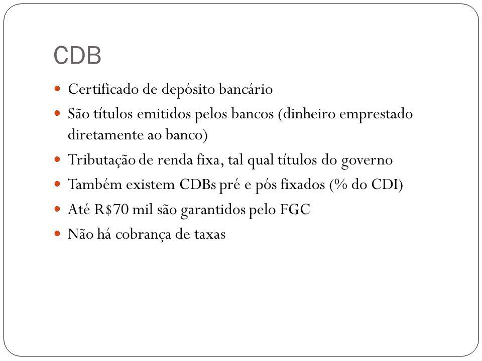 CDB Certificado de depósito bancário