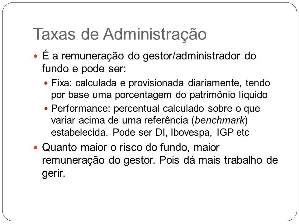 Taxas de Administração