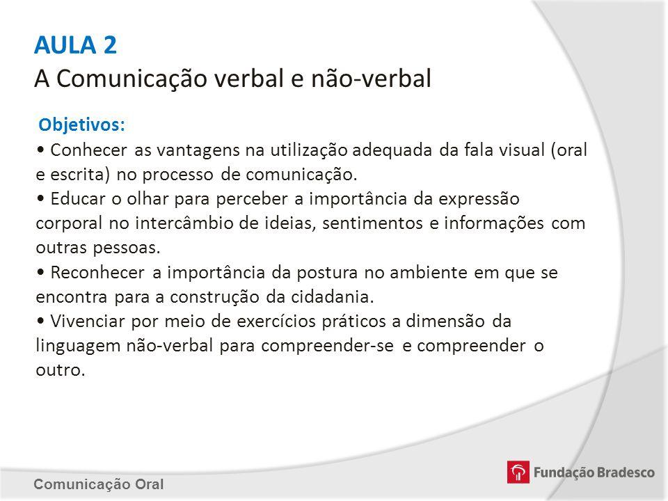 AULA 2 A Comunicação verbal e não-verbal