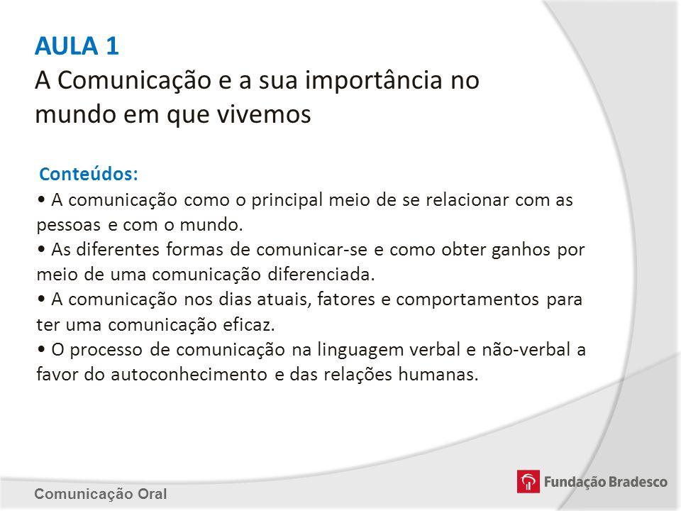 AULA 1 A Comunicação e a sua importância no mundo em que vivemos