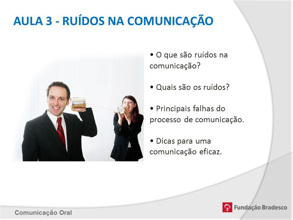 AULA 3 - RUÍDOS NA COMUNICAÇÃO