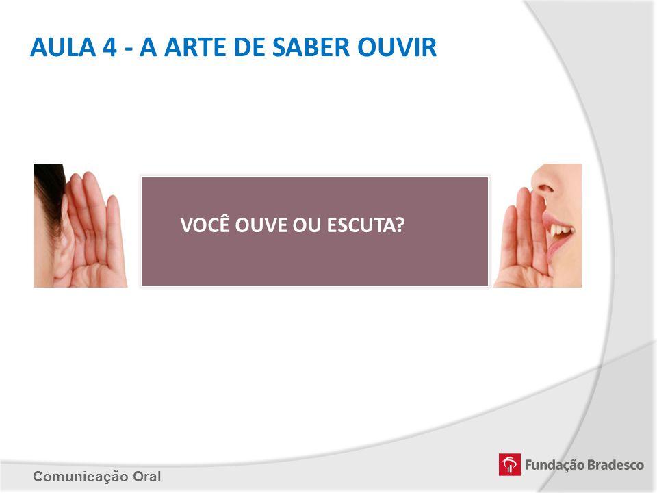 AULA 4 - A ARTE DE SABER OUVIR