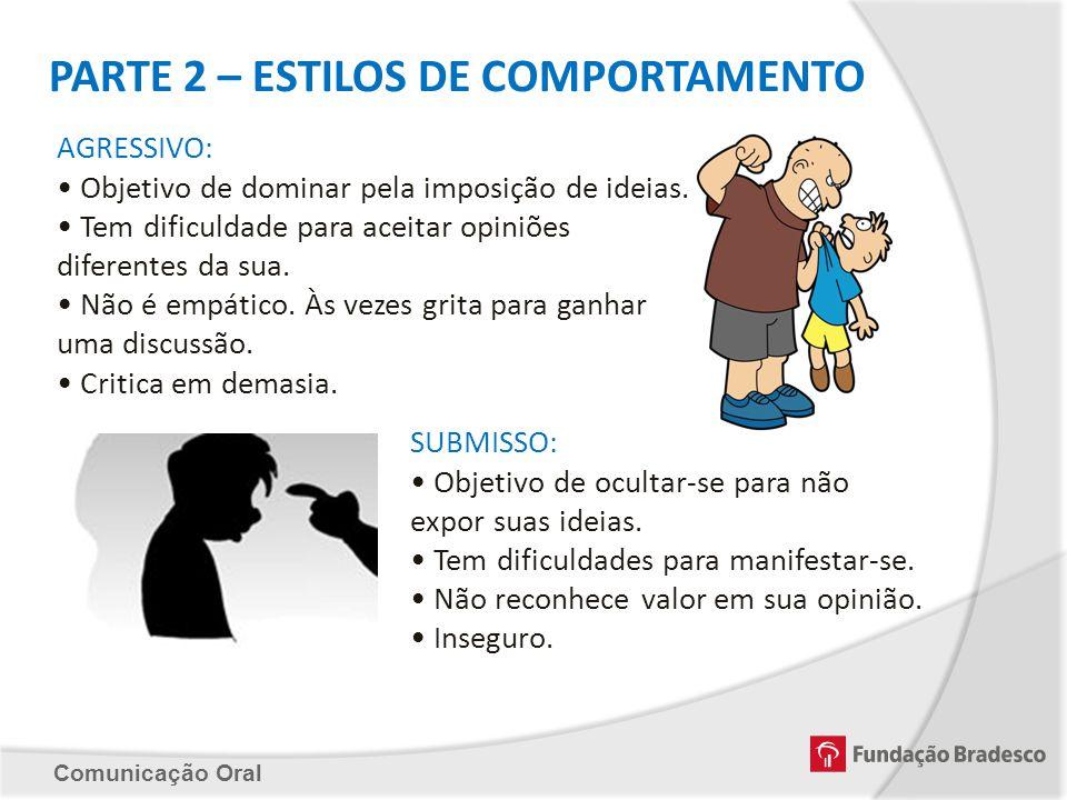 PARTE 2 – ESTILOS DE COMPORTAMENTO