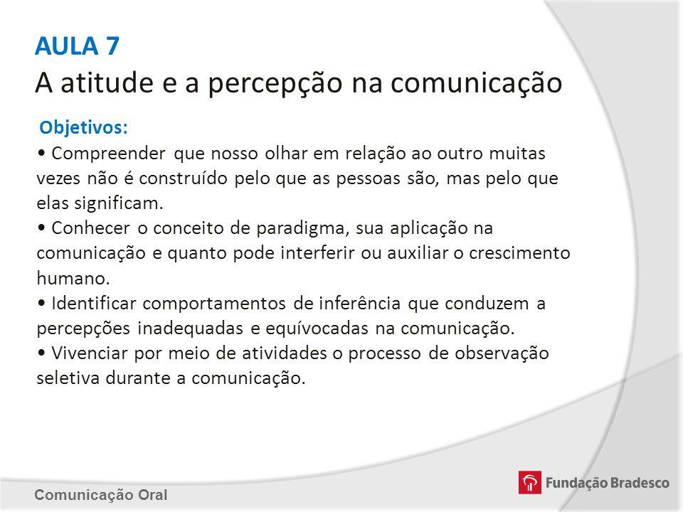 AULA 7 A atitude e a percepção na comunicação