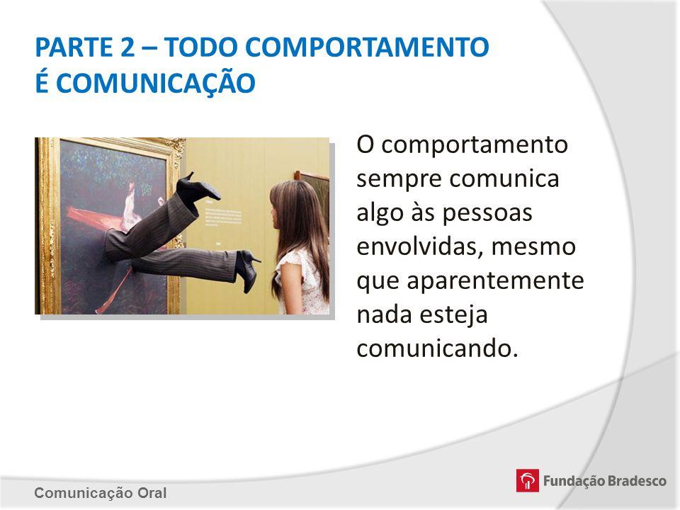 PARTE 2 – TODO COMPORTAMENTO É COMUNICAÇÃO