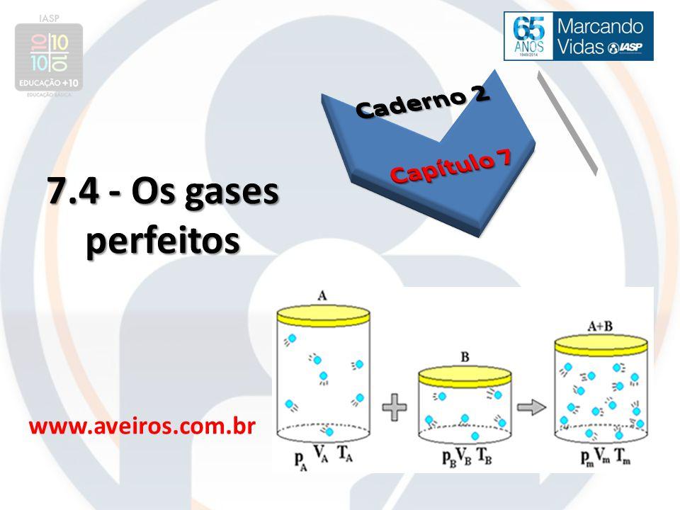 Caderno 2 Capítulo 7 7.4 - Os gases perfeitos www.aveiros.com.br