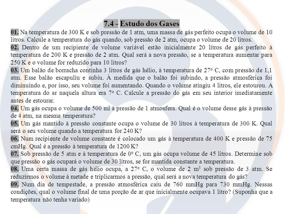 7.4 - Estudo dos Gases