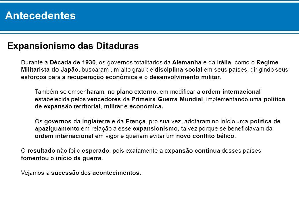 Antecedentes Expansionismo das Ditaduras