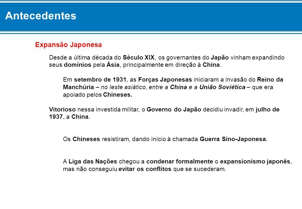 Antecedentes Expansão Japonesa