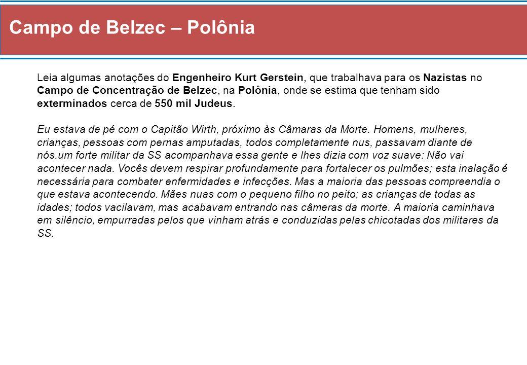 Campo de Belzec – Polônia