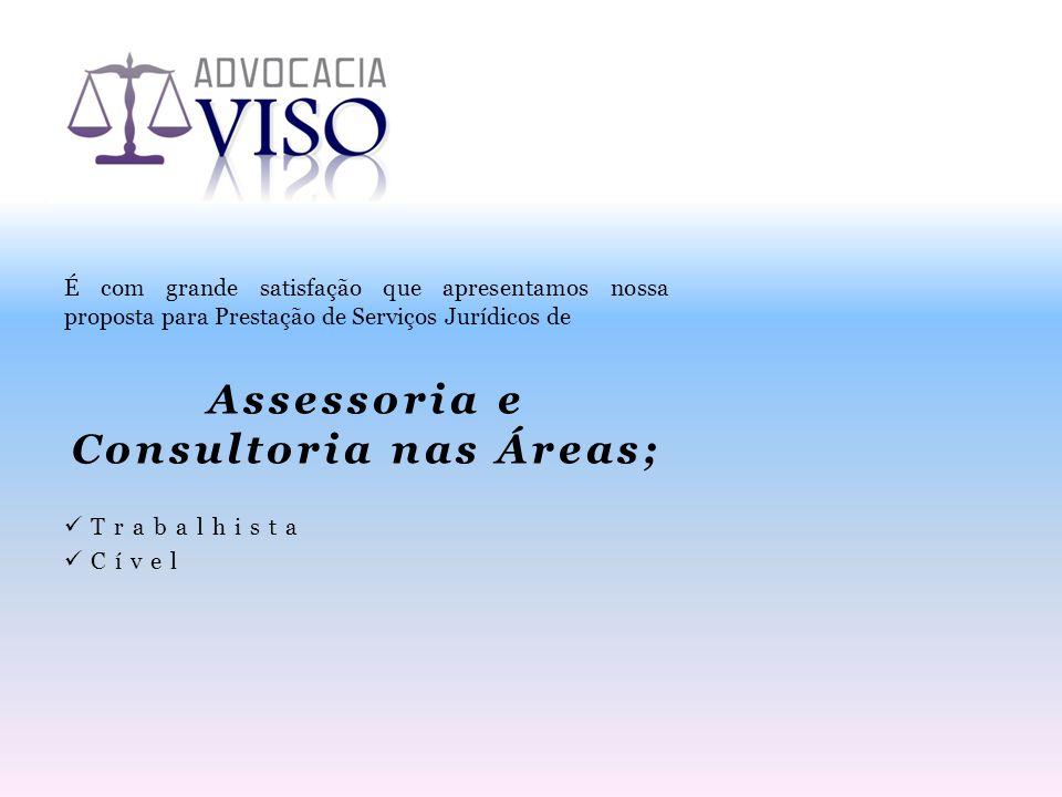 Assessoria e Consultoria nas Áreas;