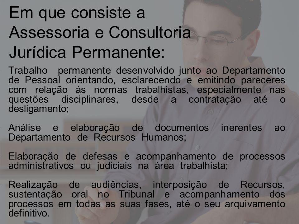Em que consiste a Assessoria e Consultoria Jurídica Permanente: