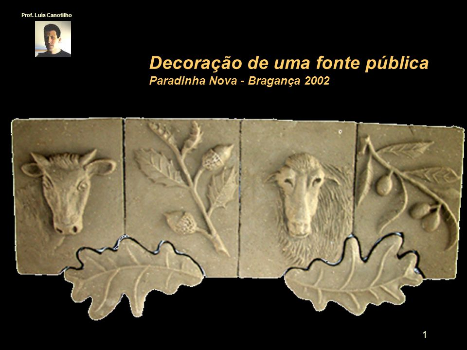 Decoração de uma fonte pública Paradinha Nova - Bragança 2002