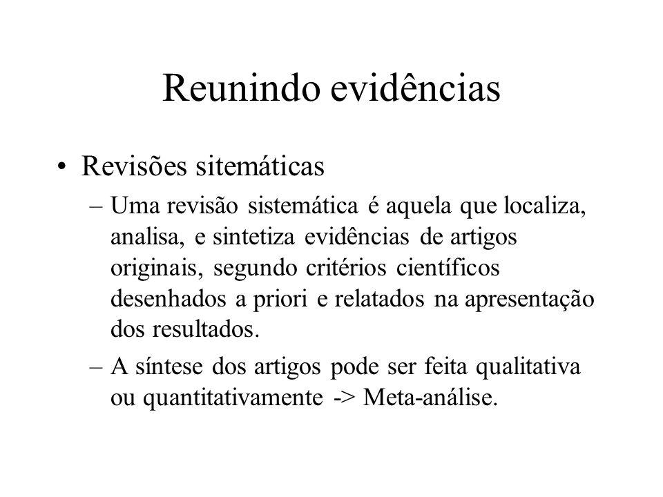 Reunindo evidências Revisões sitemáticas