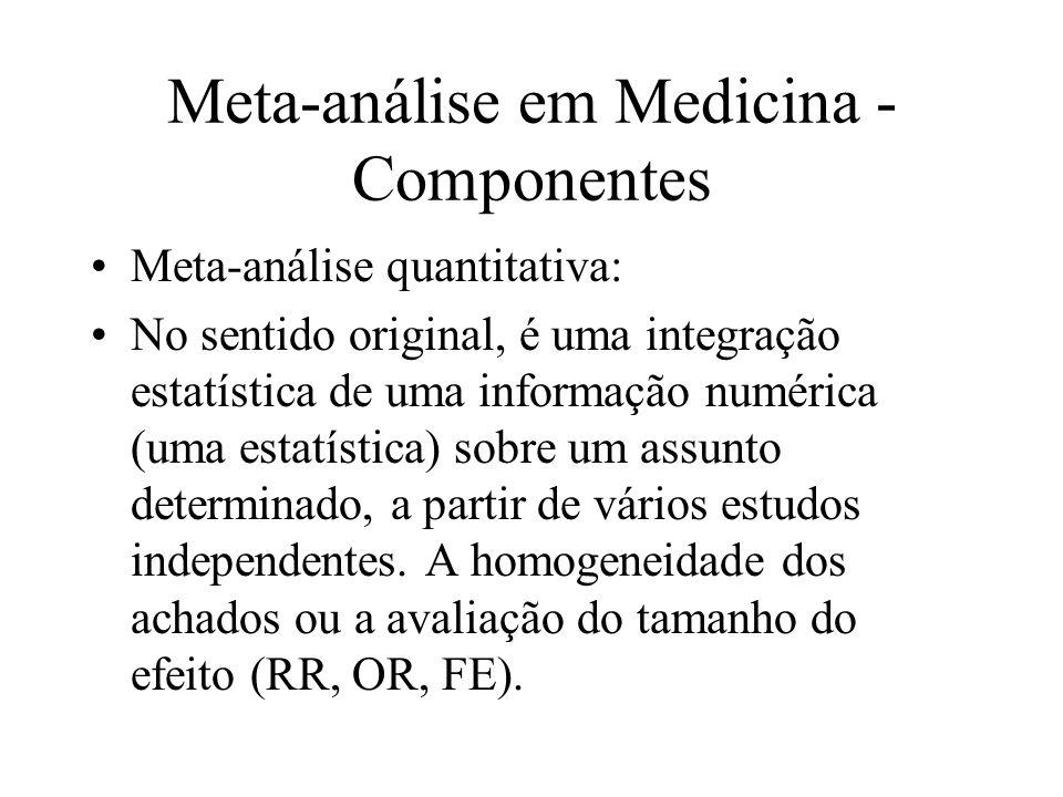 Meta-análise em Medicina - Componentes