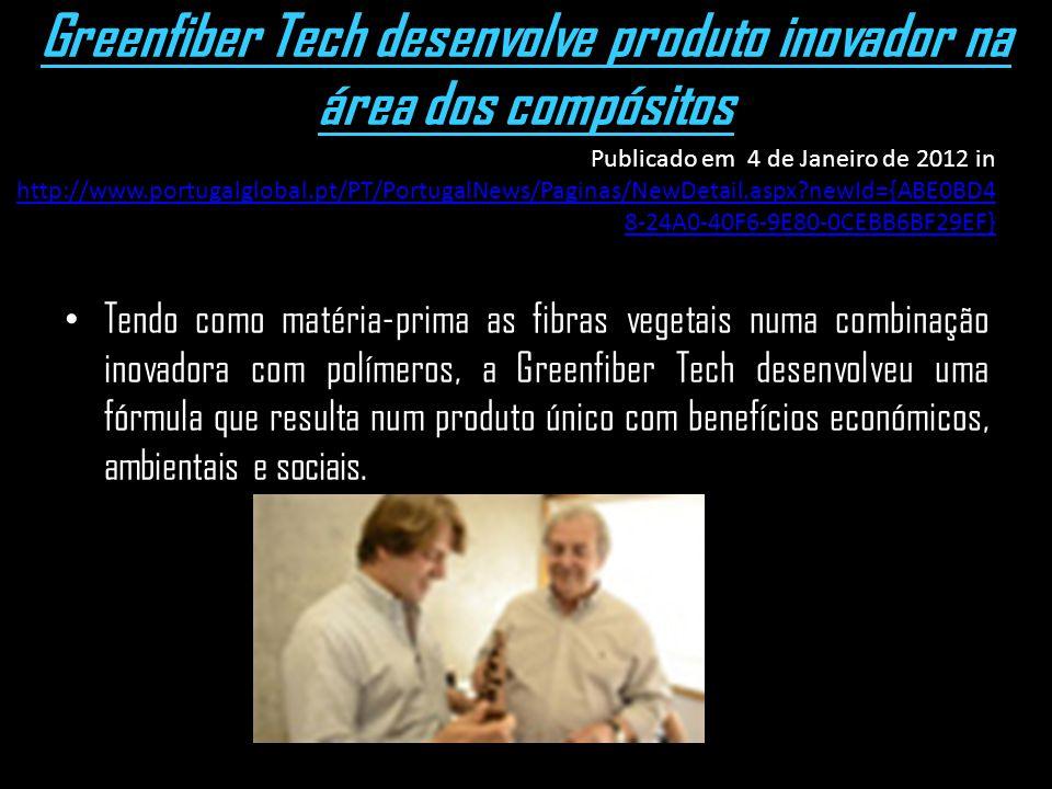 Greenfiber Tech desenvolve produto inovador na área dos compósitos