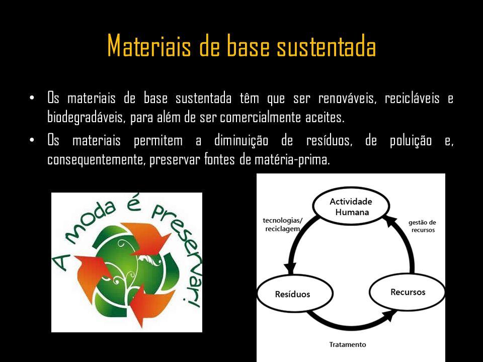 Materiais de base sustentada