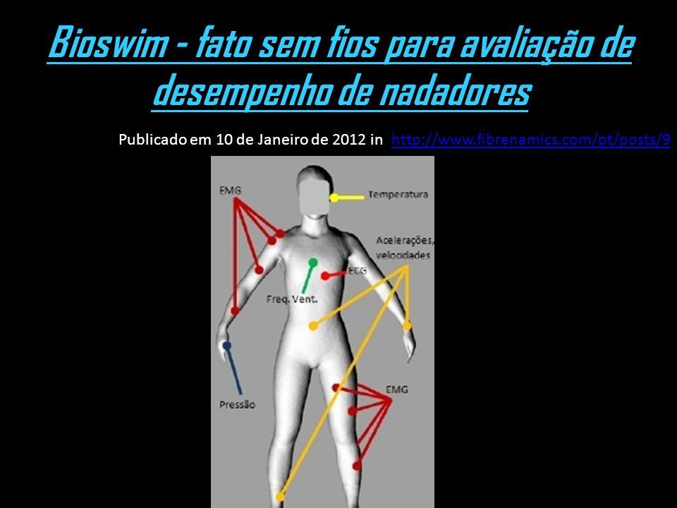 Bioswim - fato sem fios para avaliação de desempenho de nadadores