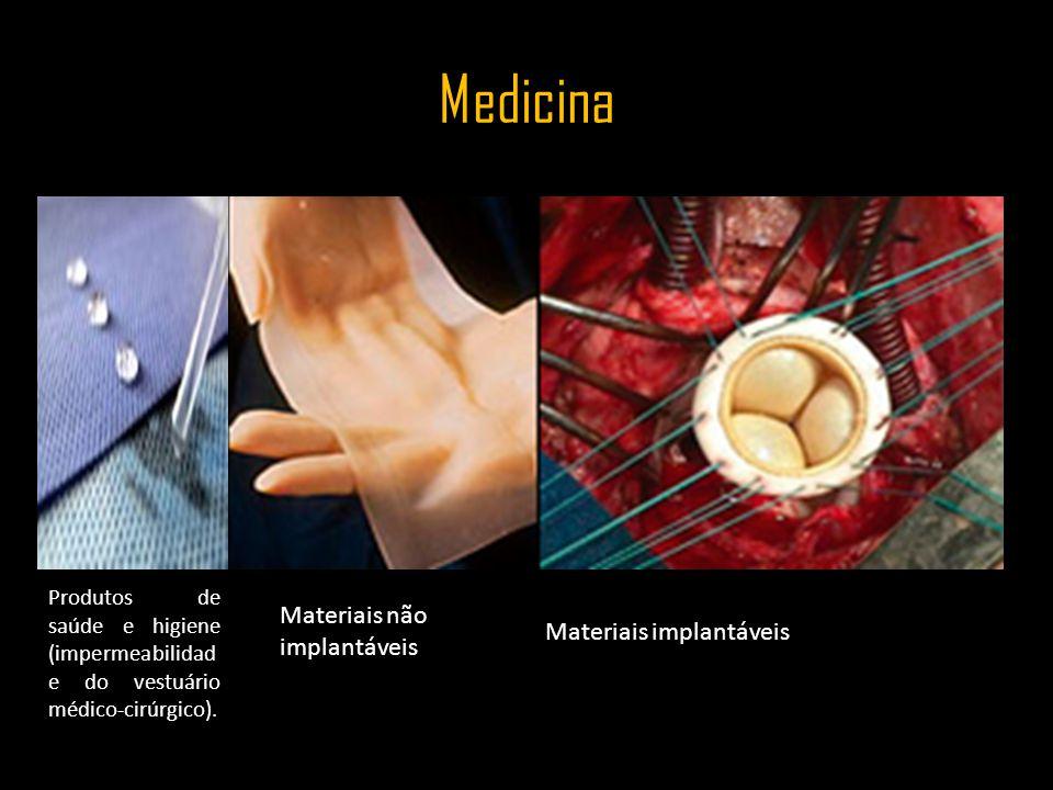 Medicina Materiais não implantáveis Materiais implantáveis
