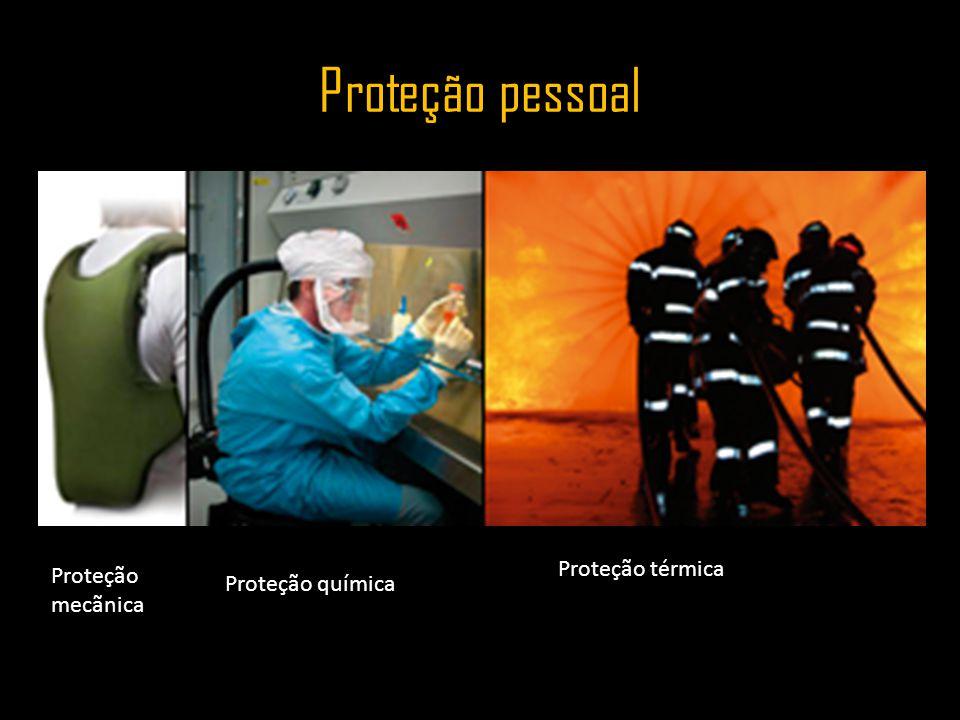 Proteção pessoal Proteção térmica Proteção mecãnica Proteção química