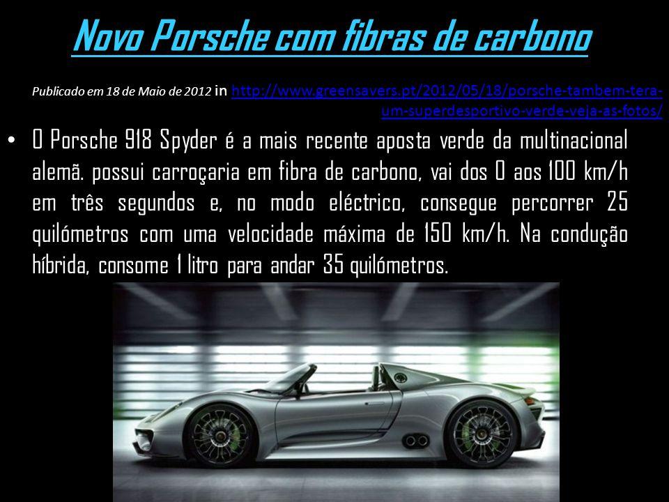 Novo Porsche com fibras de carbono