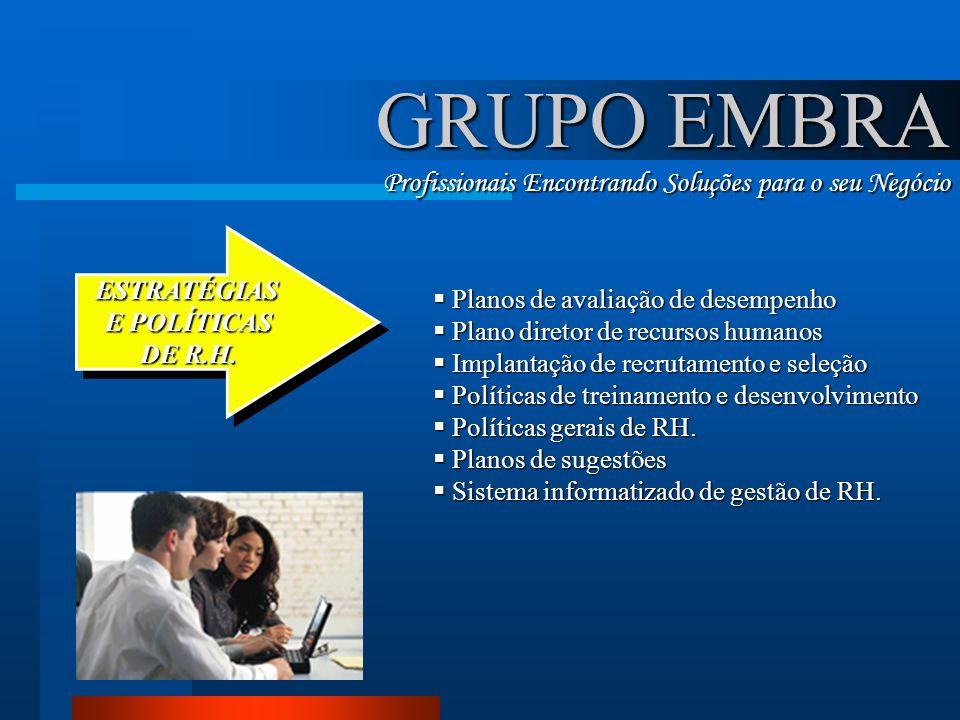 GRUPO EMBRA Profissionais Encontrando Soluções para o seu Negócio
