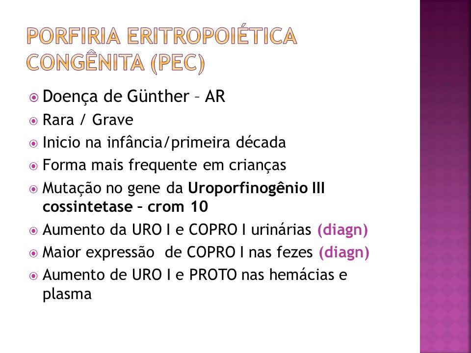 Porfiria eritropoiética congênita (pec)