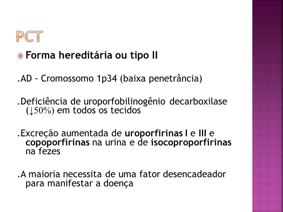 pct Forma hereditária ou tipo II