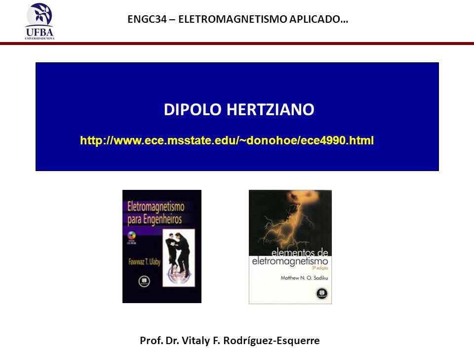 DIPOLO HERTZIANO ENGC34 – ELETROMAGNETISMO APLICADO…