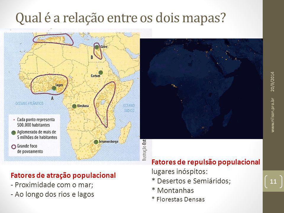 Qual é a relação entre os dois mapas