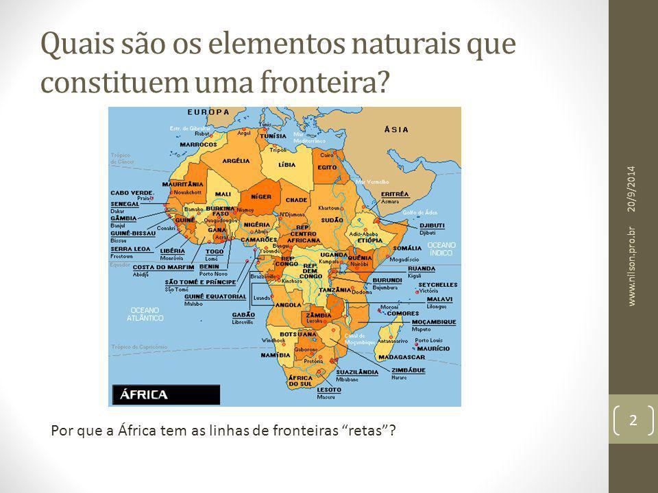 Quais são os elementos naturais que constituem uma fronteira