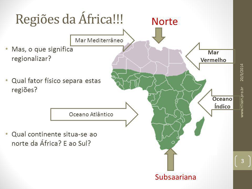 Regiões da África!!! Norte Subsaariana