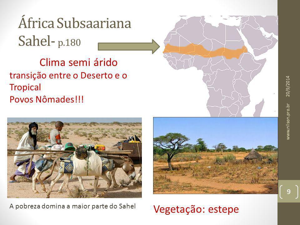 África Subsaariana Sahel- p.180