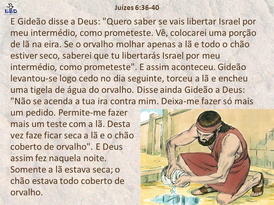 Juízes 6:36-40
