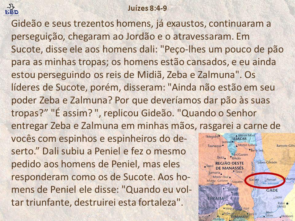 Juízes 8:4-9