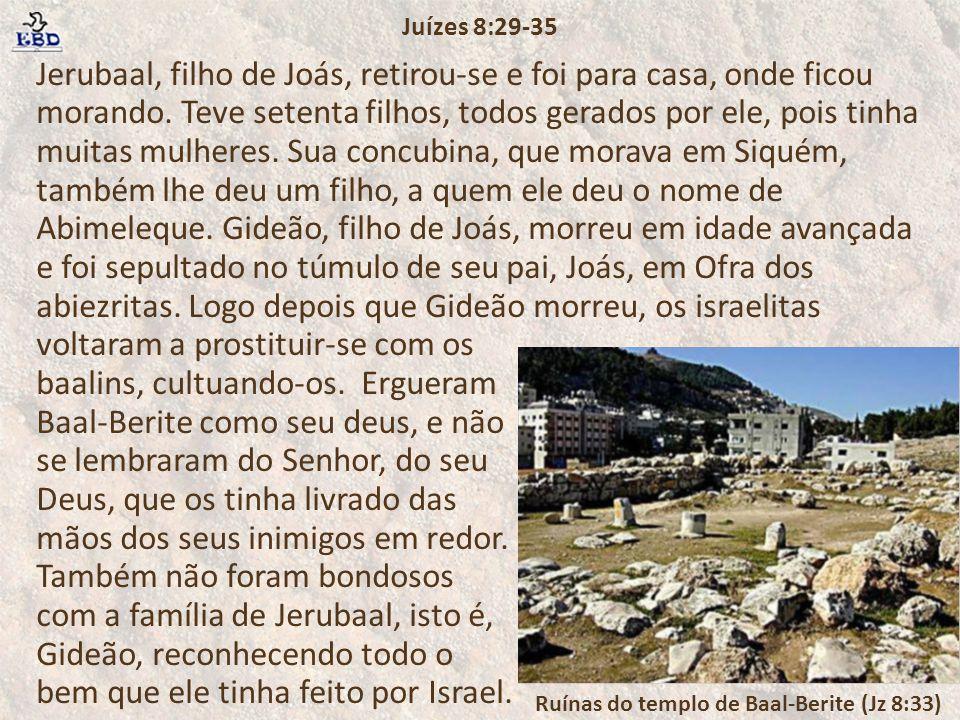 Ruínas do templo de Baal-Berite (Jz 8:33)