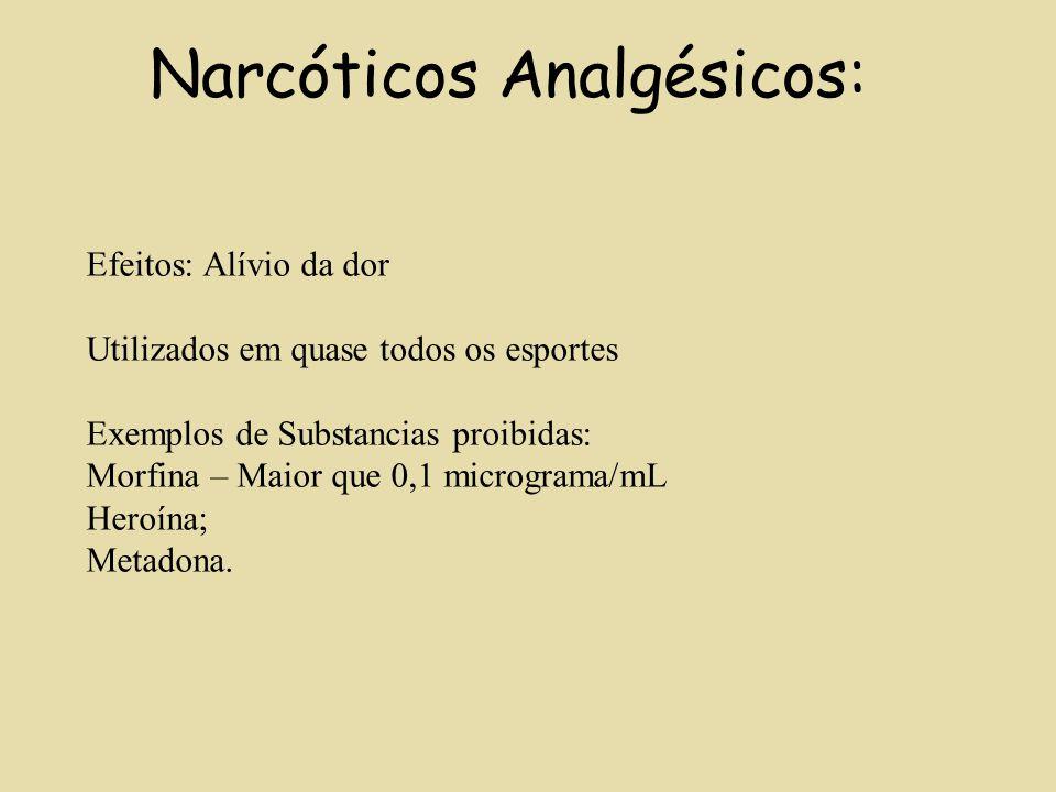 Narcóticos Analgésicos: