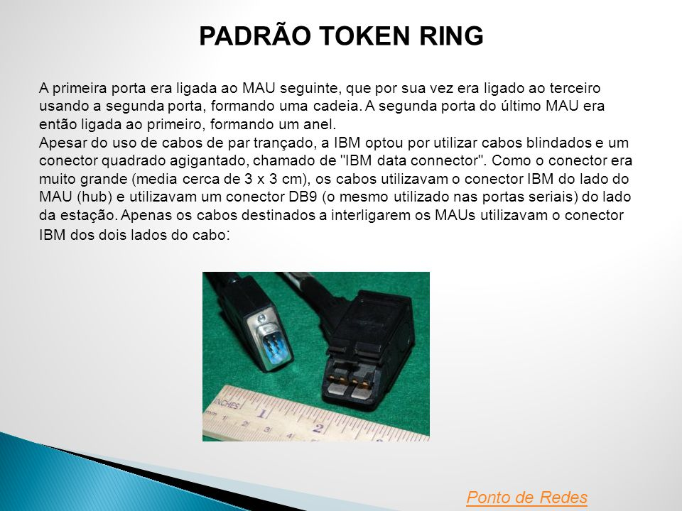 PADRÃO TOKEN RING Ponto de Redes