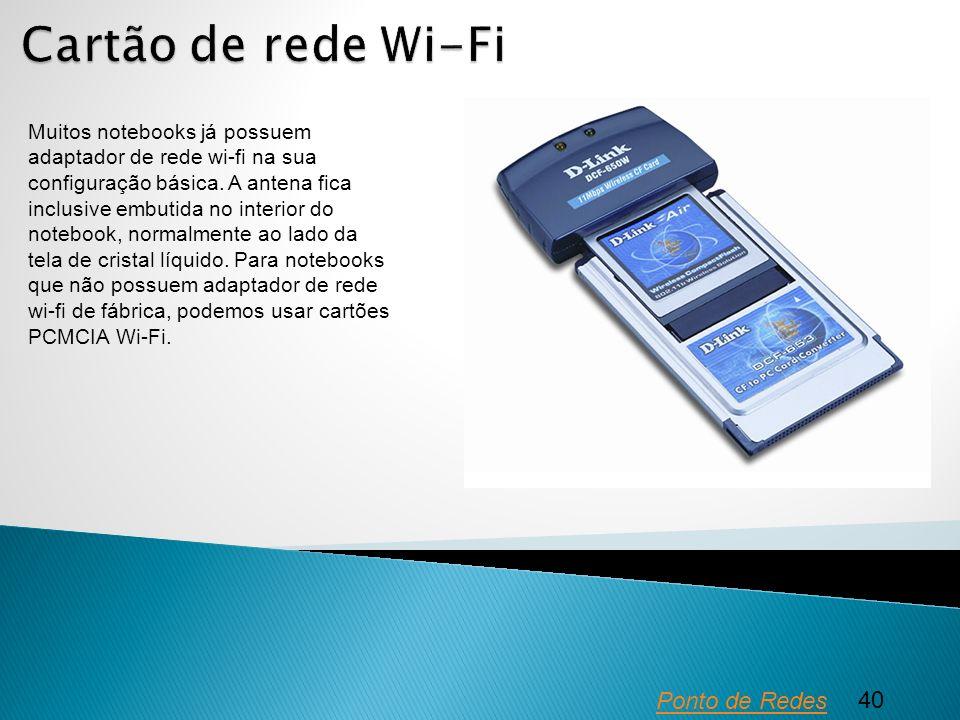 Cartão de rede Wi-Fi Ponto de Redes 40