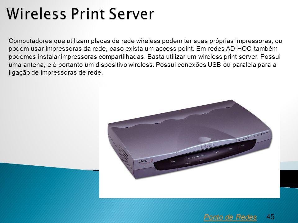 Wireless Print Server Ponto de Redes 45
