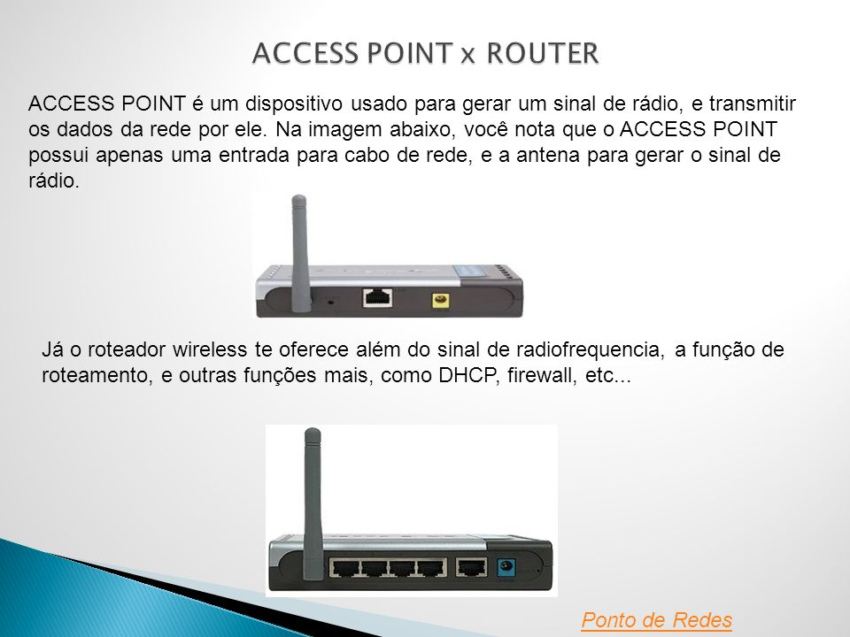 ACCESS POINT x ROUTER