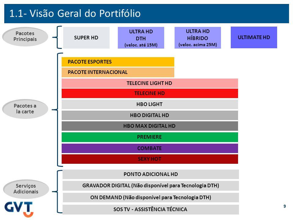 1.1- Visão Geral do Portifólio