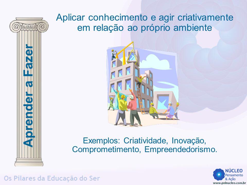 Exemplos: Criatividade, Inovação, Comprometimento, Empreendedorismo.
