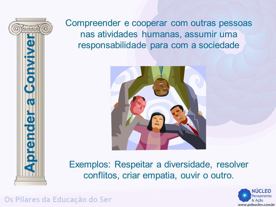 Compreender e cooperar com outras pessoas nas atividades humanas, assumir uma responsabilidade para com a sociedade