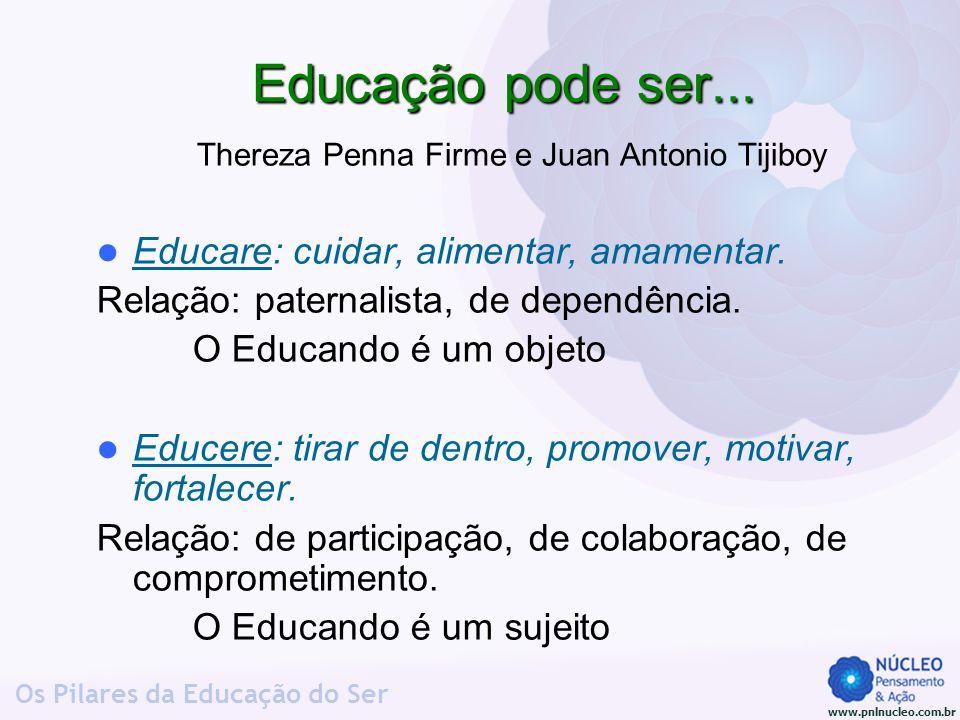 Educação pode ser... Thereza Penna Firme e Juan Antonio Tijiboy